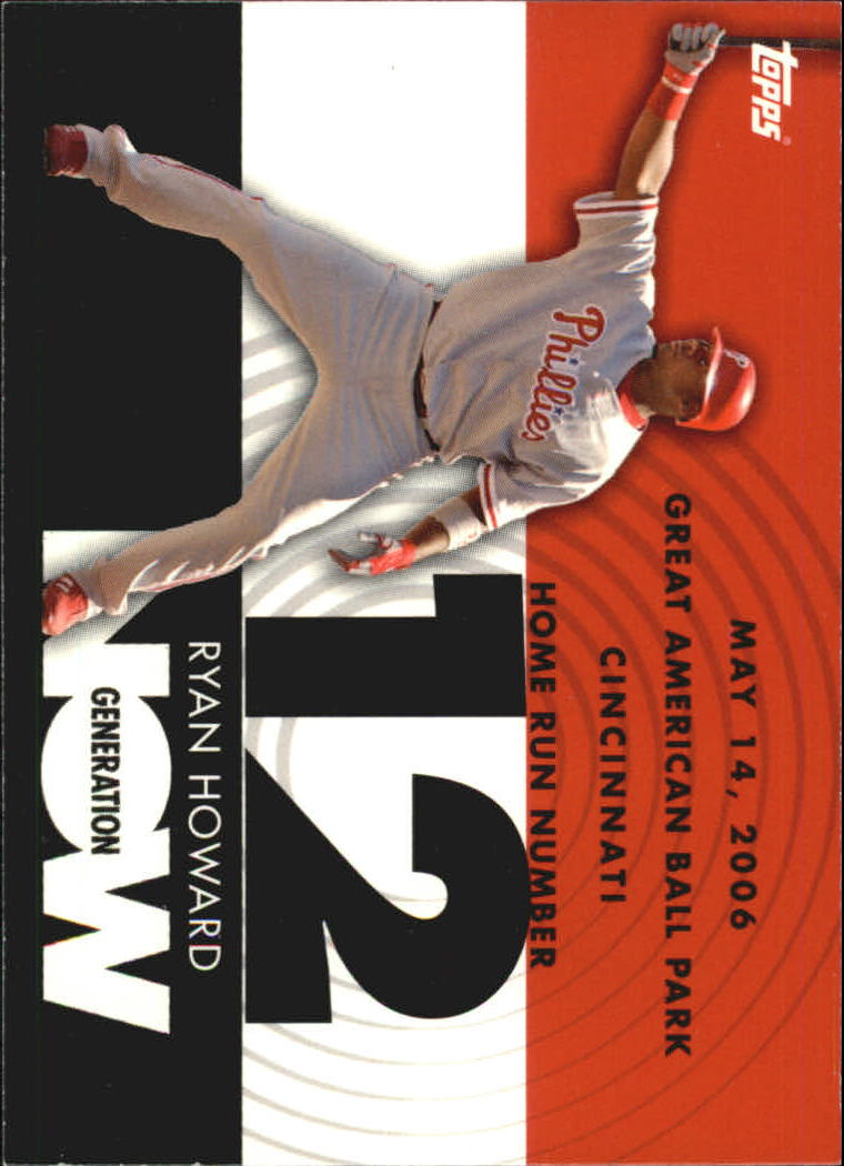 2007 Topps Generation Now #GN12 Ryan Howard