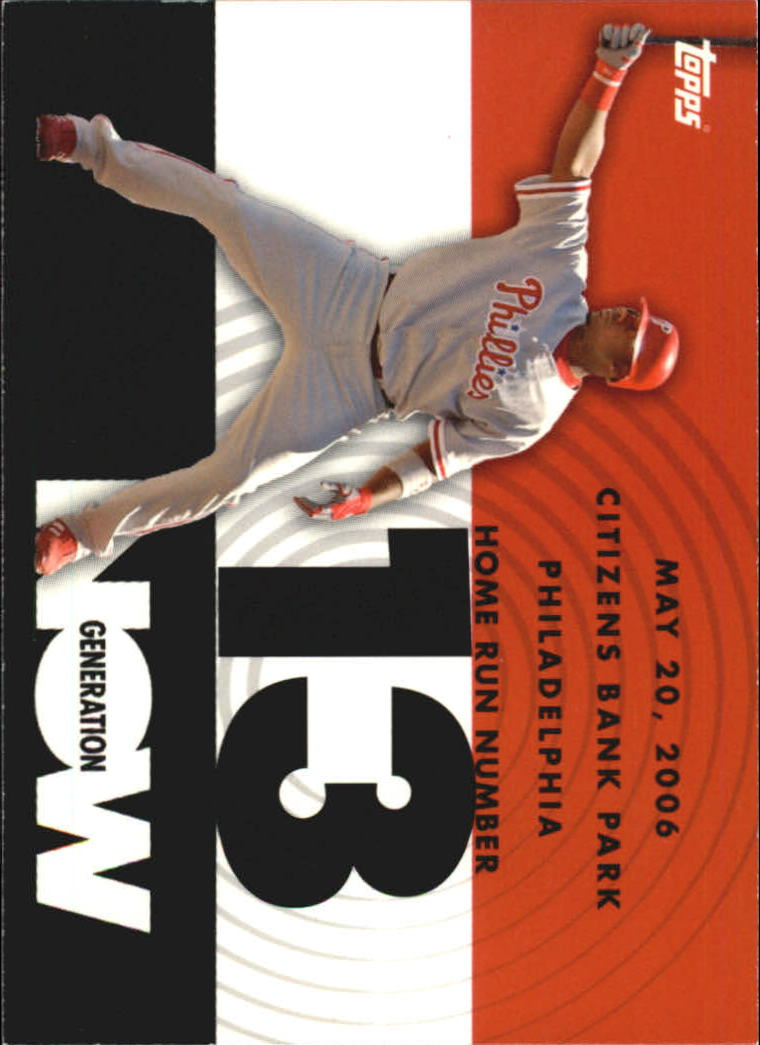 2007 Topps Generation Now #GN13 Ryan Howard