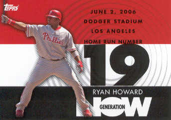 2007 Topps Generation Now #GN19 Ryan Howard