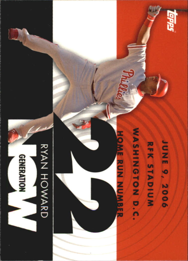 2007 Topps Generation Now #GN22 Ryan Howard