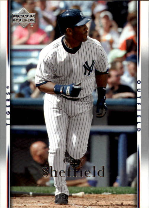 2007 Upper Deck #168 Gary Sheffield