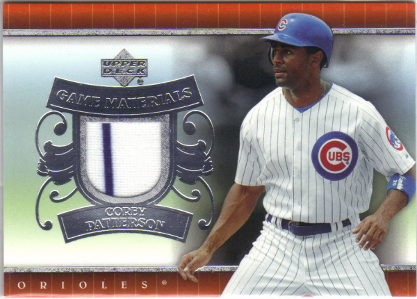 2007 Upper Deck UD Game Materials #CP Corey Patterson Jsy S1