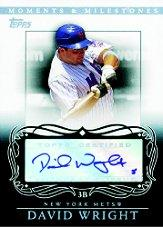 2007 Topps Moments and Milestones Milestone Autographs #DW David Wright  D