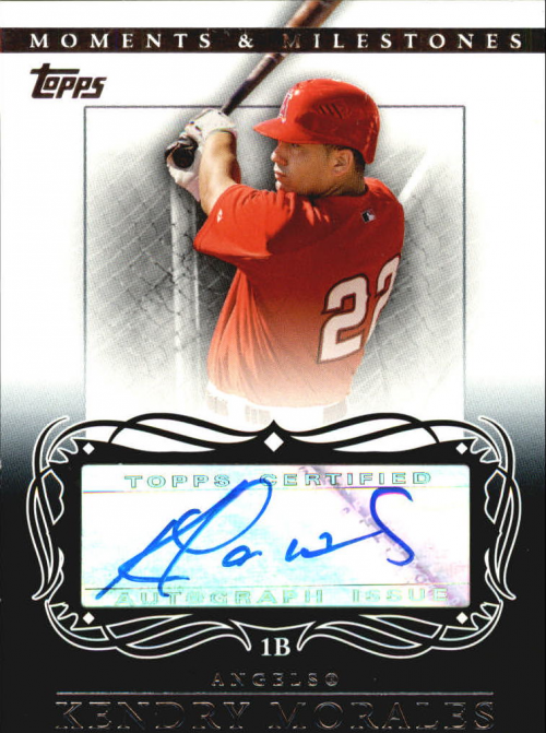 2007 Topps Moments and Milestones Milestone Autographs #KM Kendry Morales B