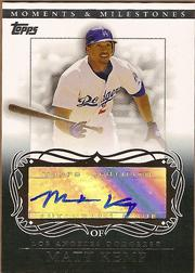 2007 Topps Moments and Milestones Milestone Autographs #MK Matt Kemp B