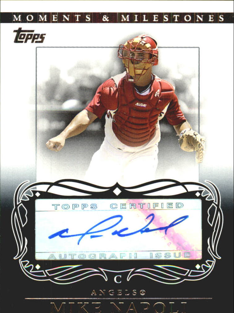 2007 Topps Moments and Milestones Milestone Autographs #MN Mike Napoli C