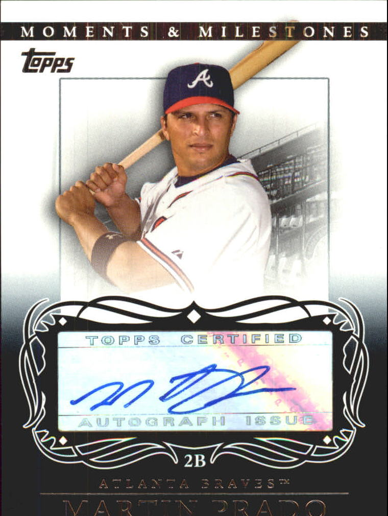 2007 Topps Moments and Milestones Milestone Autographs #MP Martin Prado A