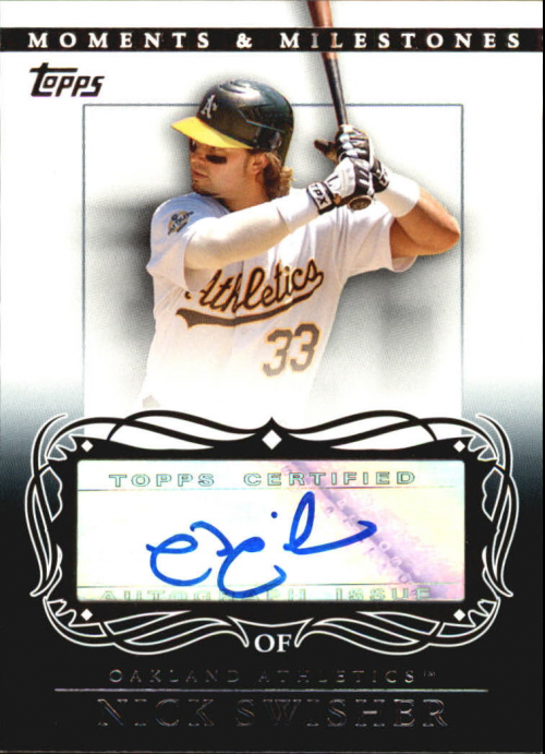 2007 Topps Moments and Milestones Milestone Autographs #NS Nick Swisher D