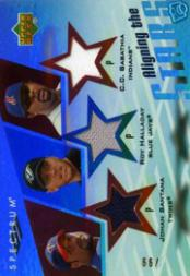 2007 Upper Deck Spectrum Aligning the Stars #SHS C.C. Sabathia/Johan Santana/Roy Halladay