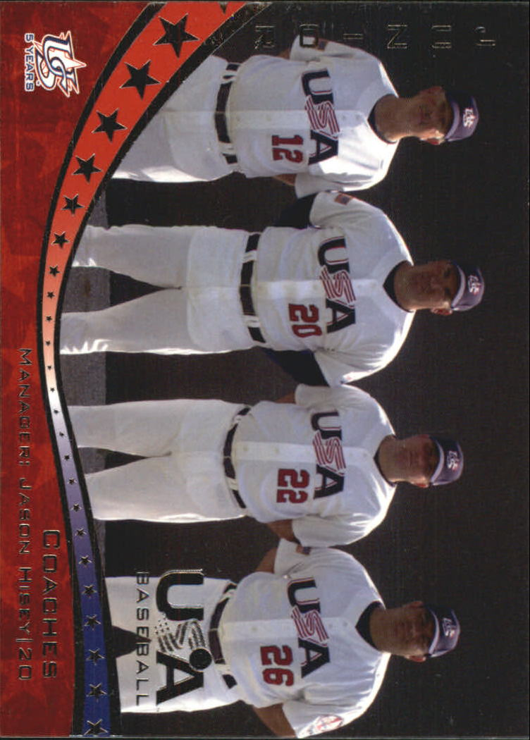 2006-07 USA Baseball #49 Junior National Team Coaches