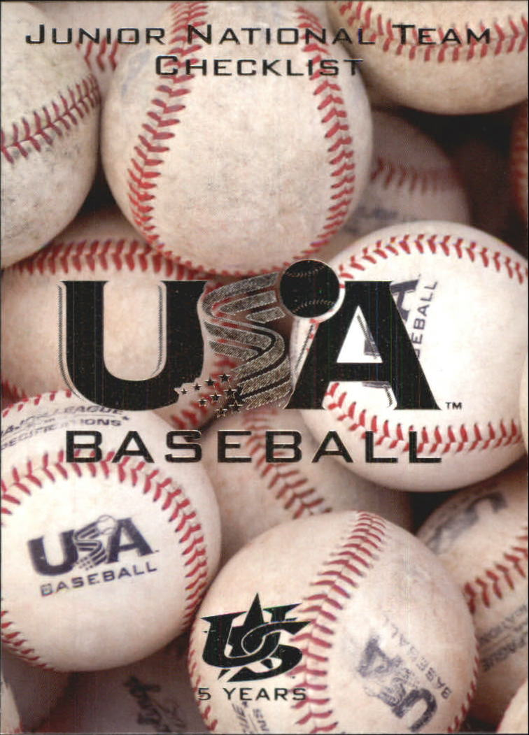 2006-07 USA Baseball #50 Junior National Team CL