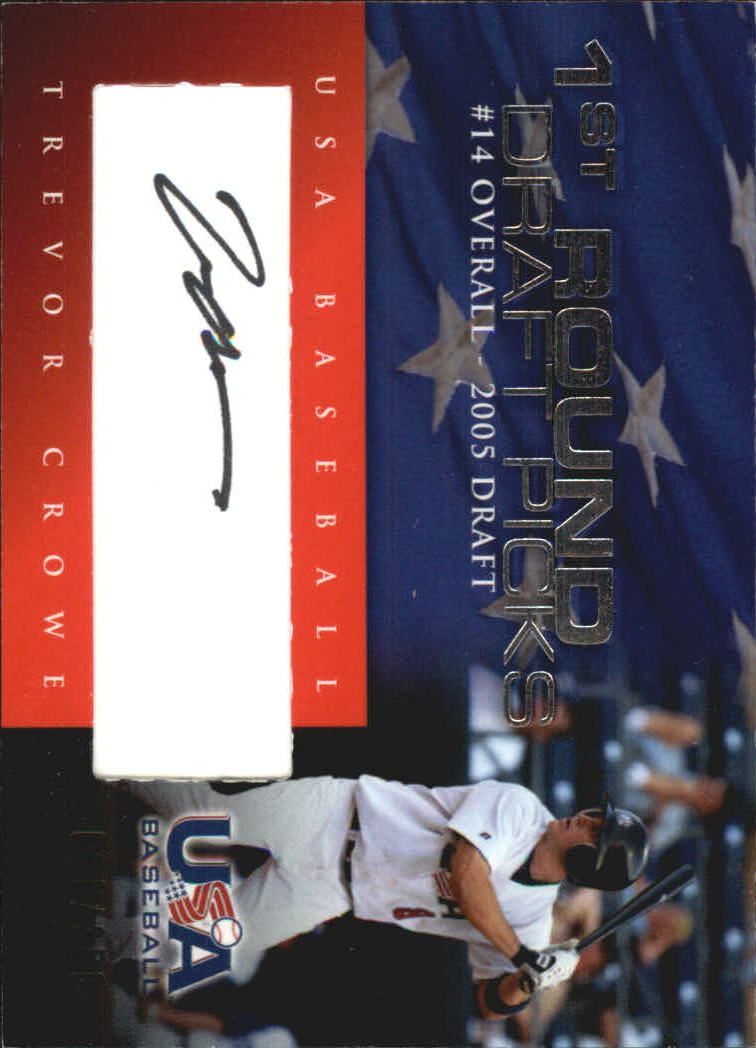 2006-07 USA Baseball 1st Round Draft Pick Signatures Black #7 Trevor Crowe/200 *