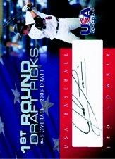 2006-07 USA Baseball 1st Round Draft Pick Signatures Black #20 Jed Lowrie/200 *