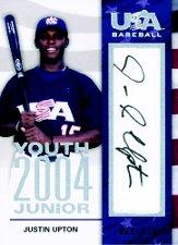 2006-07 USA Baseball 2004 Youth Junior Signatures #2 Justin Upton