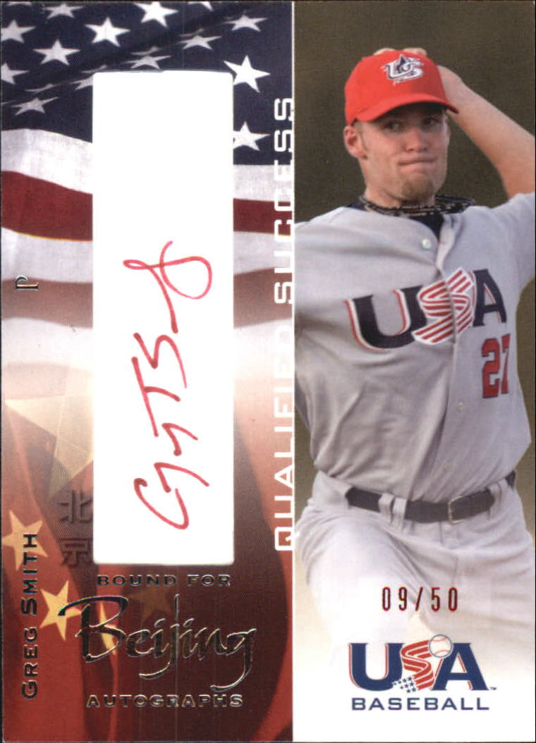 2006-07 USA Baseball Bound for Beijing Signatures #4 Greg Smith