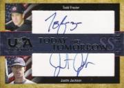 2006-07 USA Baseball Today and Tomorrow Signatures Blue #8 Todd Frazier/Justin Jackson