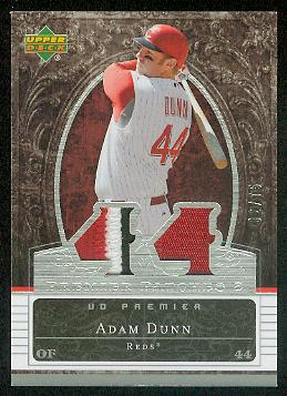 2007 Upper Deck Premier Patches Dual #AD Adam Dunn