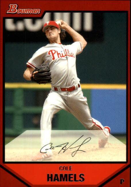 2007 Bowman #15 Cole Hamels UER (Utley pictured on back)