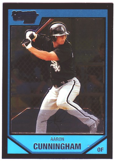 2007 Bowman Chrome Prospects #BC21 Aaron Cunningham