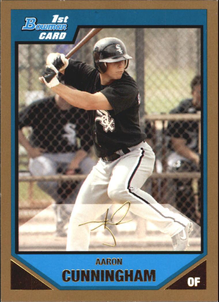 2007 Bowman Prospects Gold #BP21 Aaron Cunningham