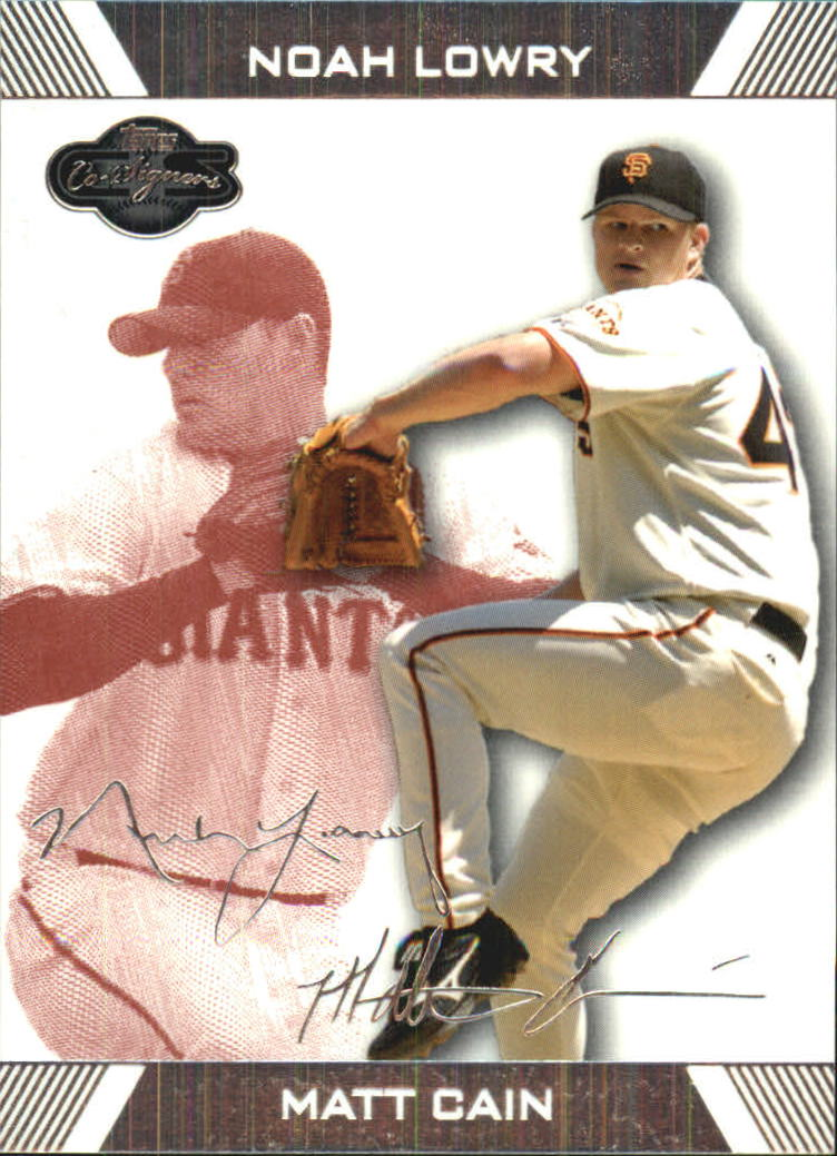 2007 Topps Co-Signers Red #14B Matt Cain w/Noah Lowry