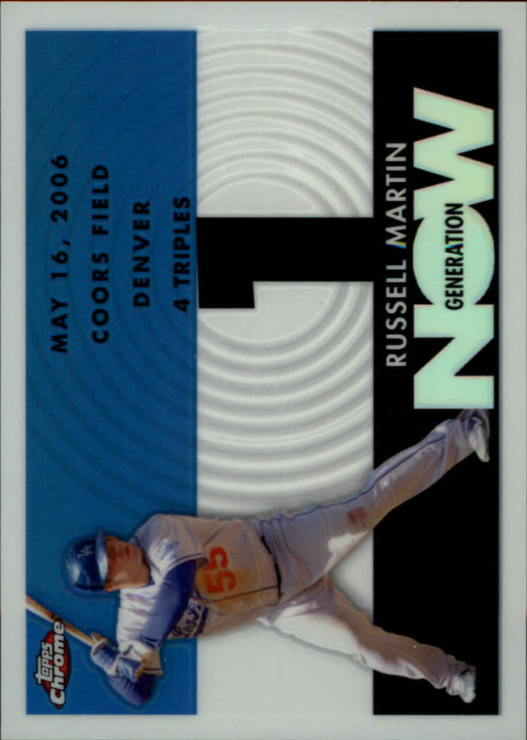 2007 Topps Chrome Generation Now White Refractors #GN279 Russell Martin
