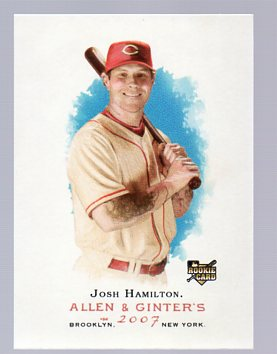 2007 Topps Allen and Ginter #4 Josh Hamilton