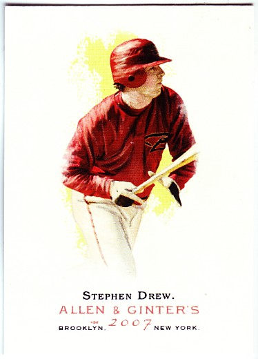 2007 Topps Allen and Ginter #5 Stephen Drew SP