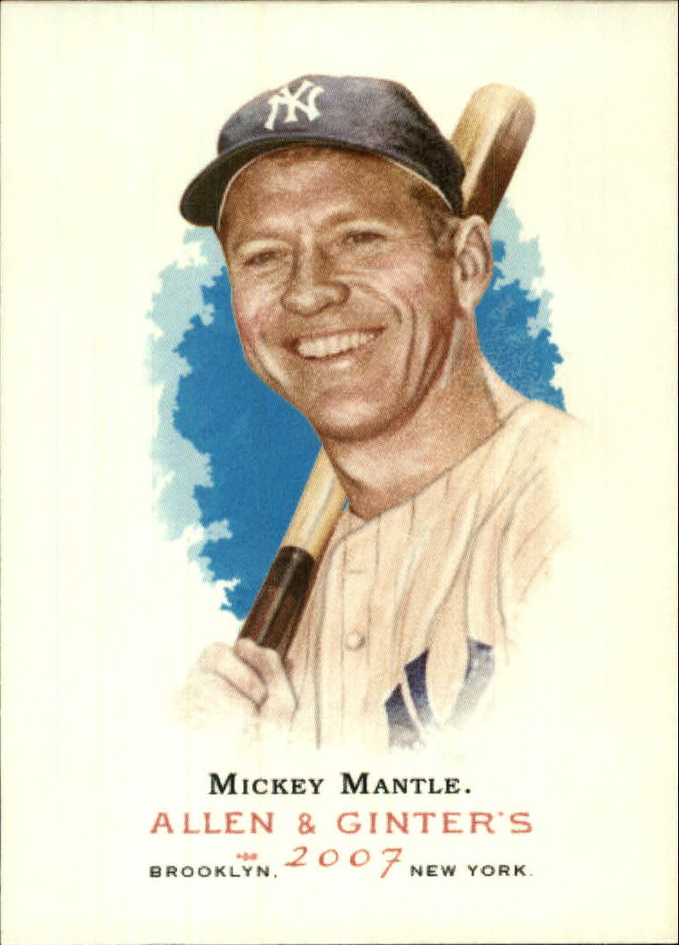 2007 Topps Allen and Ginter #7 Mickey Mantle