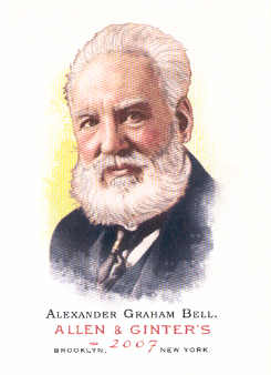 2007 Topps Allen and Ginter #9 Alexander Graham Bell