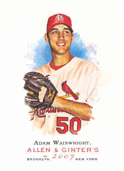 2007 Topps Allen and Ginter #21 Adam Wainwright