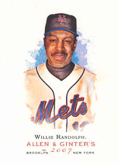 2007 Topps Allen and Ginter #28 Willie Randolph