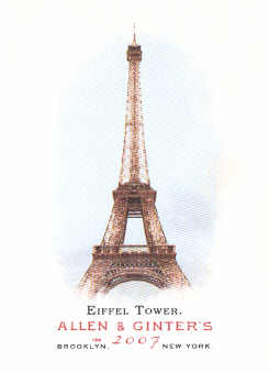 2007 Topps Allen and Ginter #30 Eiffel Tower