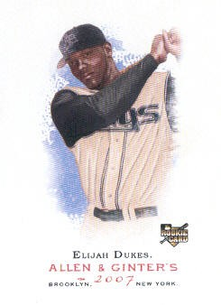 2007 Topps Allen and Ginter #33 Elijah Dukes RC
