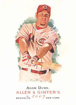 2007 Topps Allen and Ginter #40 Adam Dunn