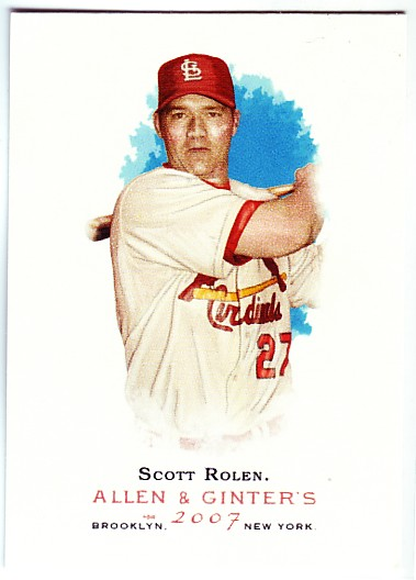 2007 Topps Allen and Ginter #43 Scott Rolen SP