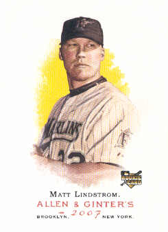 2007 Topps Allen and Ginter #44 Matt Lindstrom (RC)