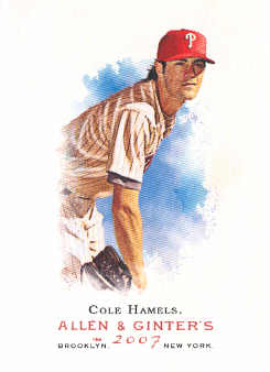 2007 Topps Allen and Ginter #46 Cole Hamels