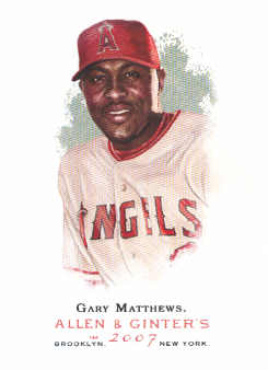 2007 Topps Allen and Ginter #48 Gary Matthews SP