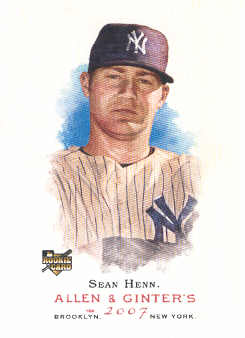 2007 Topps Allen and Ginter #57 Sean Henn (RC)