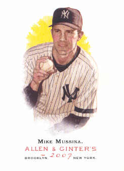 2007 Topps Allen and Ginter #58 Mike Mussina SP
