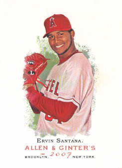 2007 Topps Allen and Ginter #74 Ervin Santana