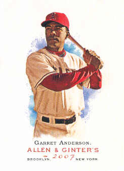 2007 Topps Allen and Ginter #76 Garret Anderson