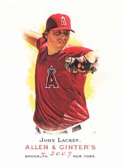2007 Topps Allen and Ginter #89 John Lackey
