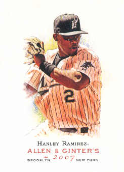 2007 Topps Allen and Ginter #95 Hanley Ramirez