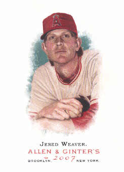 2007 Topps Allen and Ginter #135 Jered Weaver
