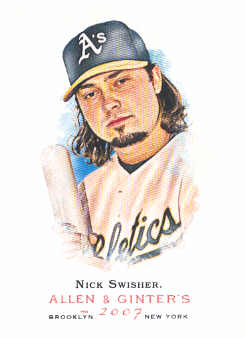 2007 Topps Allen and Ginter #140 Nick Swisher