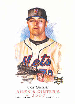 2007 Topps Allen and Ginter #168 Joe Smith RC