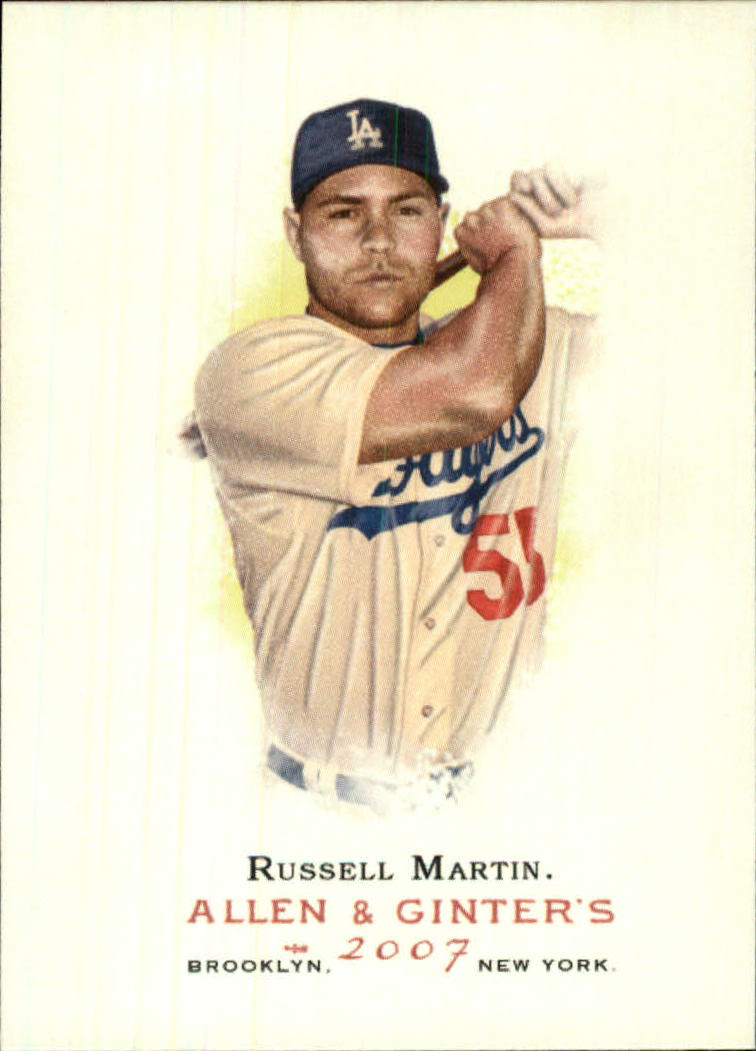 2007 Topps Allen and Ginter #187 Russell Martin