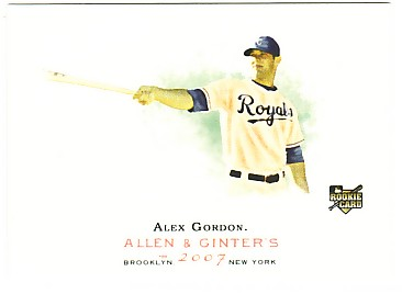 2007 Topps Allen and Ginter #204 Alex Gordon RC front image